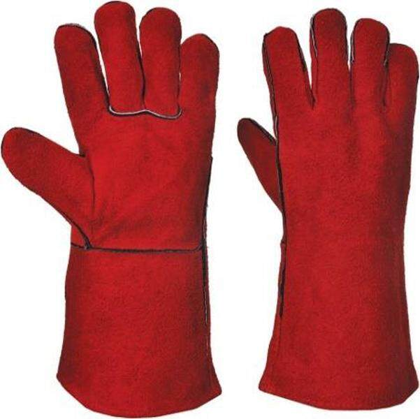 1 Pair of 13 Welding Leather Hand Glove