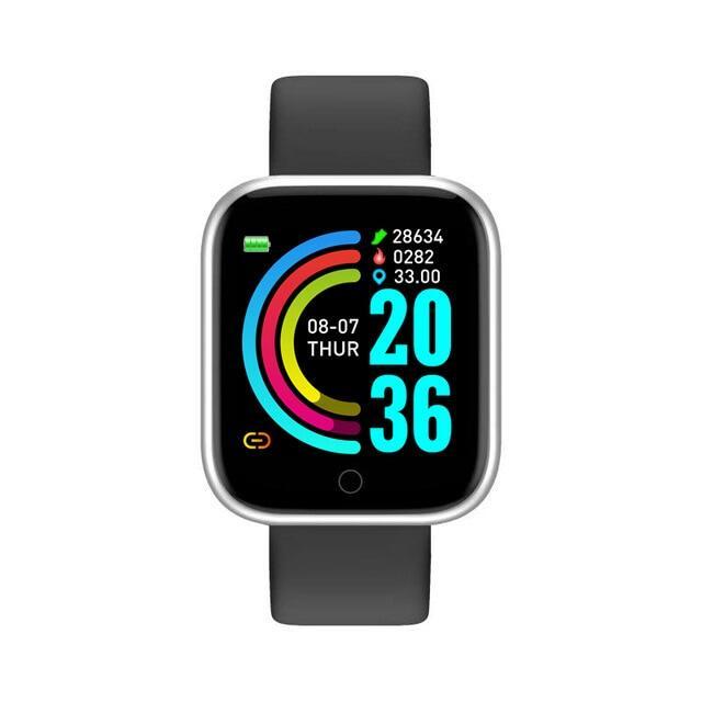 Đồng Hồ Thông Minh Bluetooth D20, Người Đàn Ông Không Thấm Nước Thể Thao Tập Thể Dục Tracker Vòng Đeo Tay Thông Minh, Máy Đo Nhịp Tim Huyết Áp Y68 Smartwatch