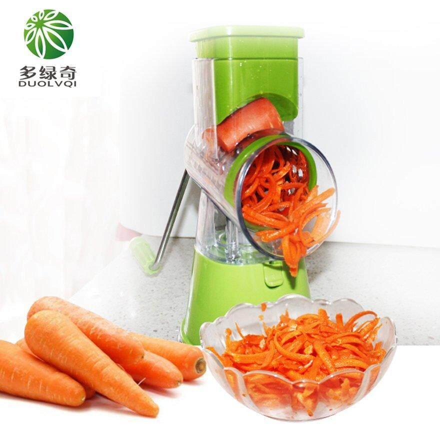 ANEXT Multi-function Vegetables Fruit c*utter Manual Drum Slicer Shredders Grinder