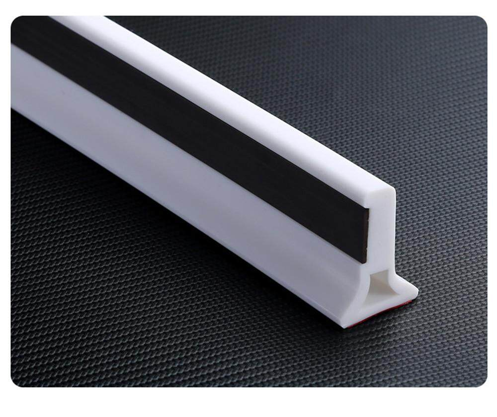 Custom Made Bathroom Water Stop Strip with Magnetic Floor Water Retaining  Bar Sill 35x50mm Silicone Adhesive Strip 1 Meter White