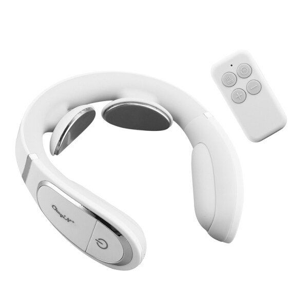 Buy CkeyiN Electric Neck Massager with Hot Compress Function Remote Control for Deep Tissue Pulse Massage Relieves Vertebra Neck and Shoulder Pain Singapore