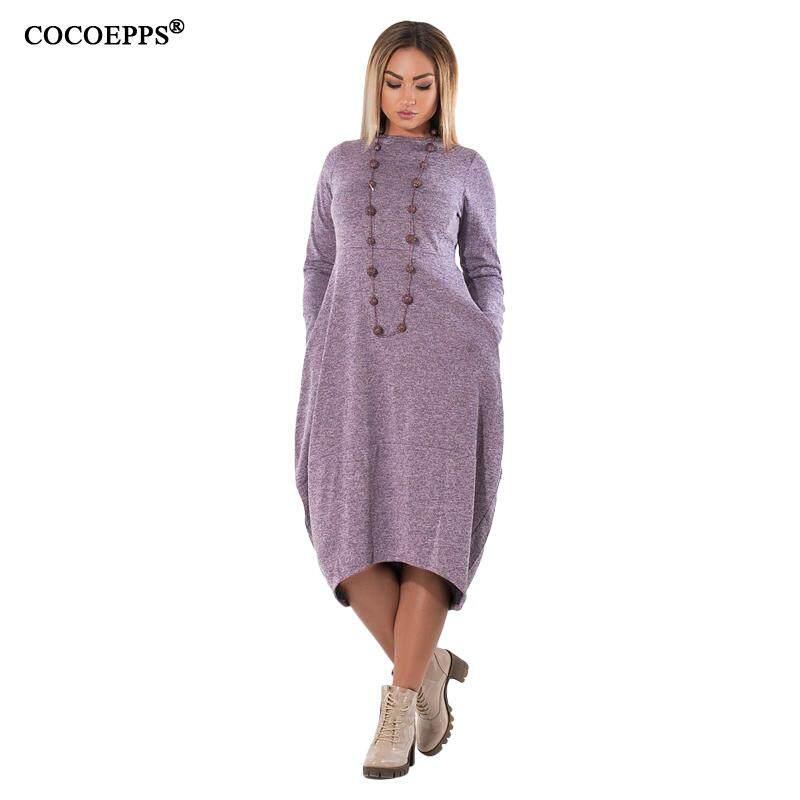 1e3bf4cc18dfe Specifications of 5XL 6XL Loose Casual women Dress big sizes new 2019 Autumn  Winter Plus Size long dress Irregular Long Sleeve dresses vestidos
