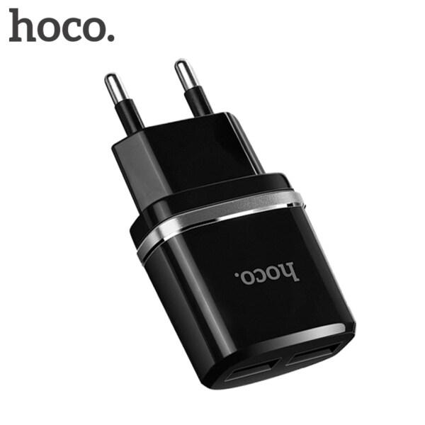 Hoco 5V 2.4A Đa Năng 2 Cổng USB Sạc Sạc Tường EU Cắm Di Động Cho iPhone Samsung Sạc Đôi Adapter