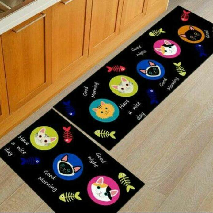 2 Pcs/set Kitchen Mat Carpet Anti Slip By Sc Automation.