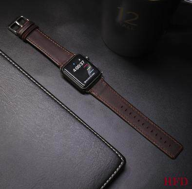 Apple Watch Leather Band Strap Square Head 42mm - Dark Brown Malaysia
