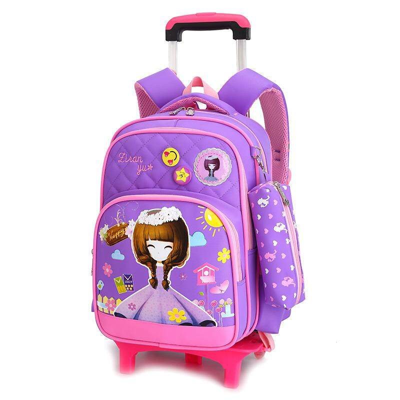 0814af9cb02 Korean-style Primary School Students Rod Bag Six-wheeled Stairs 7 12 Years