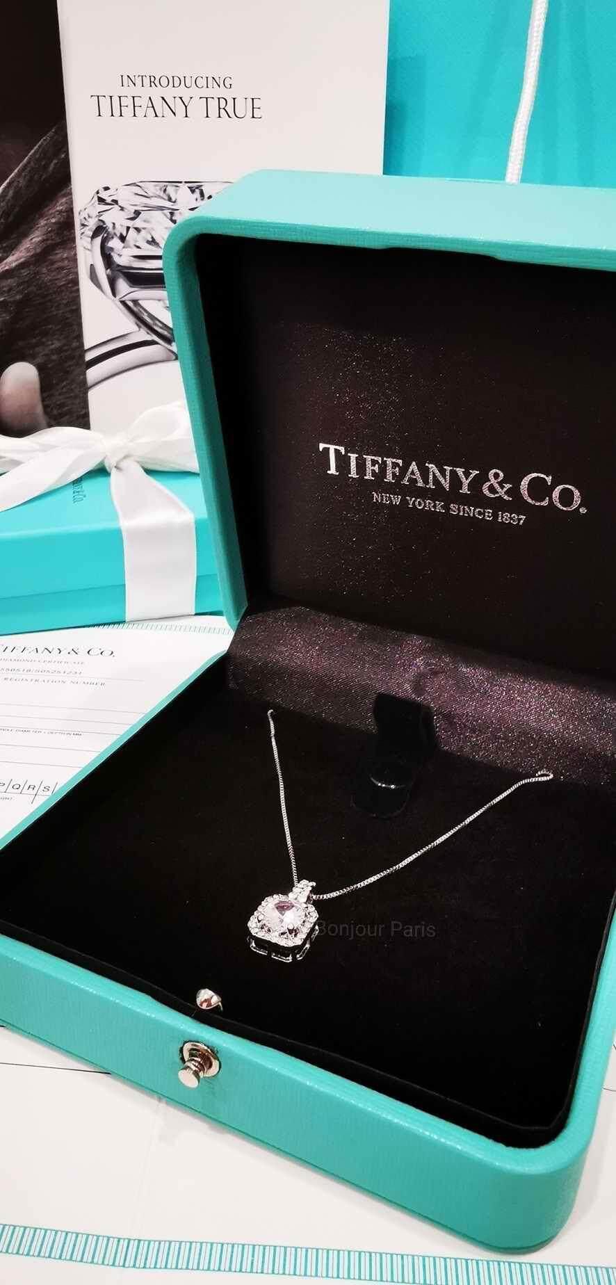 Tiffanyд & Co 3carat Brilliant Cut Diamond Pendant Necklace..