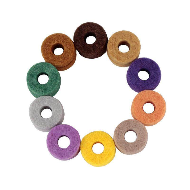 20pcs/ Pack High Quality Cymbal Stand Felt Washer Pad Replacement Round Soft For Drum Set Cymbals (random Color Delivery) By Rainning.