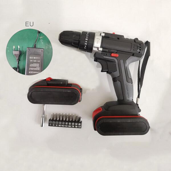 【Toolstar】48V 1500W 0-1450r / min Electric Drill Hammer Cordless 28N.m High Power Screwdriver