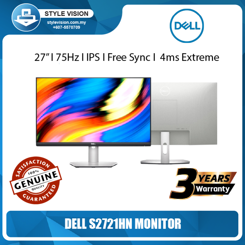 Dell Monitor S2721HN 27/IPS/FullHD/75Hz/Free Sync/3yrs Warranty/4ms Extreme Malaysia