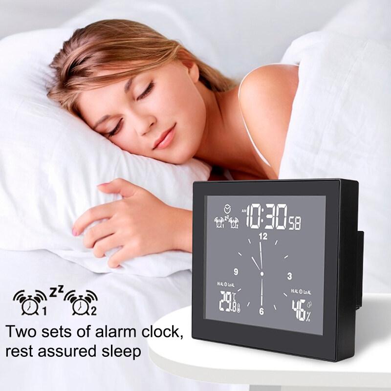 Nơi bán 【Alarm Clock】Multifunctional Phòng Tắm Đồng Hồ, Máy Tính Để Bàn Nhà Sáng Tạo Hẹn Giờ Nhiệt Độ Và Độ Ẩm Mét