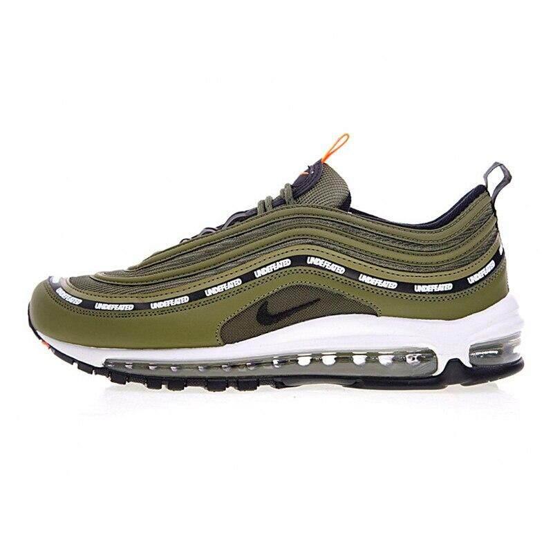 Kualitas Nike_Air_Max 97 And Tak Terkalahkan Pria Sepatu Lari Hijau Tentara, non-Slip Tahan Abrasi Bernapas AJ1986 300