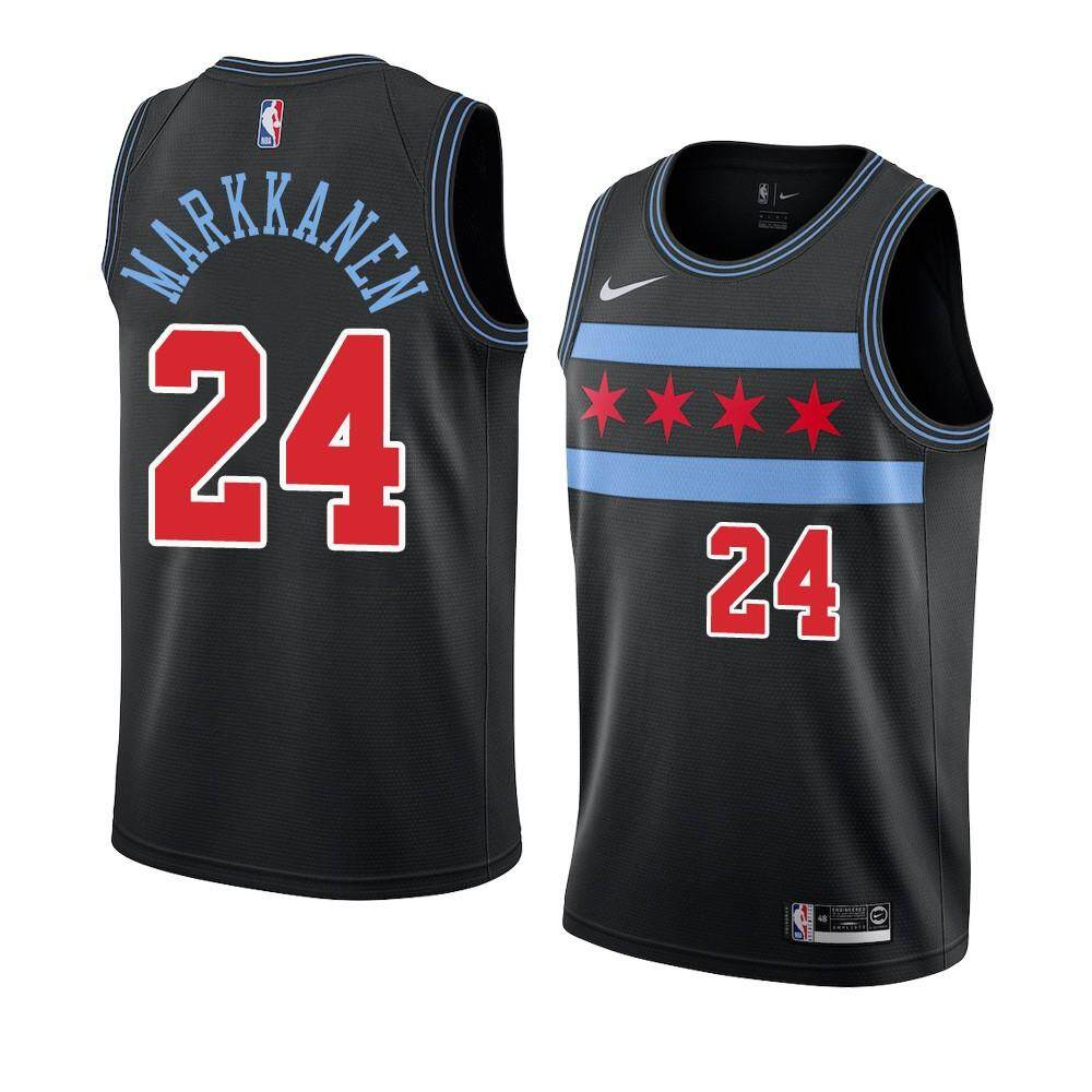 outlet store 96a01 976ca Zach LaVine & Michael_Jordan & Lauri Markkanen Chicago Bulls _Nike 2018/19  Swingman Jersey Black – City Edition