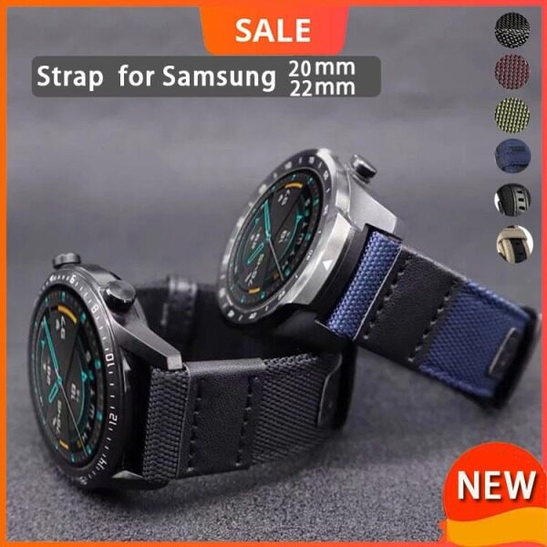 Dây Đeo Đồng Hồ 20Mm 22Mm Nylon Vải Đồng Hồ Samsung 3 45Mm/Gear S3/Samsung 3 41Mm/Đồng Hồ Galaxy Dây Đai Thay Thế 42Mm