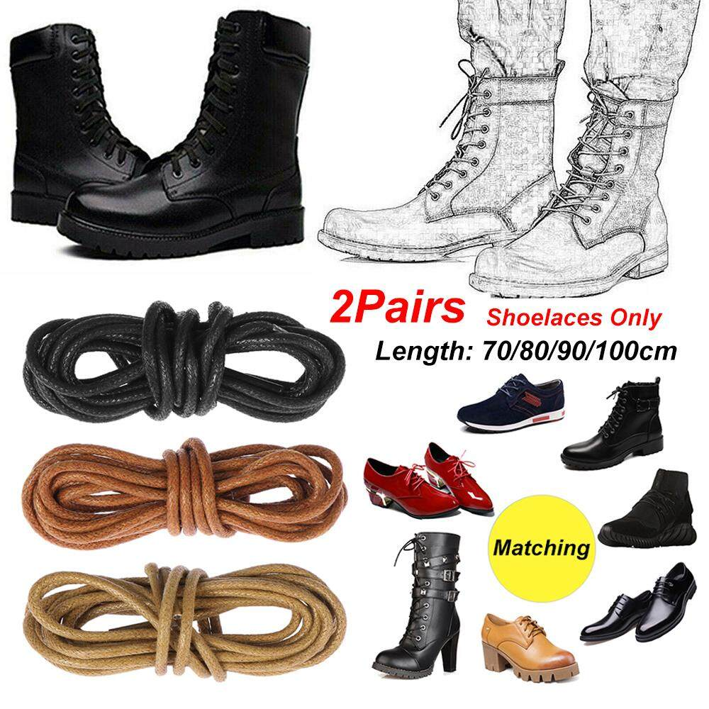 Shoe Laces Cord Leather Dress Shoes Round Waxed Shoelaces Boots Laces Strings