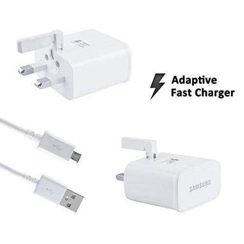 Original Equipment Manufacturer Samsung Charger Fast Charging Max 25w Travel Adapter With Micro Usb Cable Uk 3-Pin Plug By My Premium Gadget.