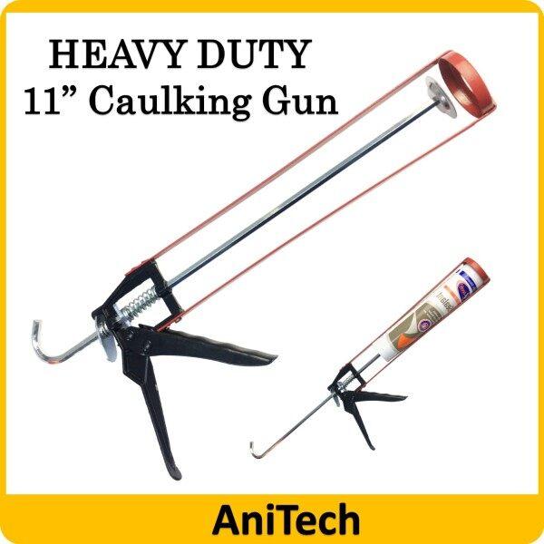 11 Heavy Duty Skeleton Silicone Caulking Gun for Cartridge Caulk Tool Pressing Inject Silicone Sealant Silikon