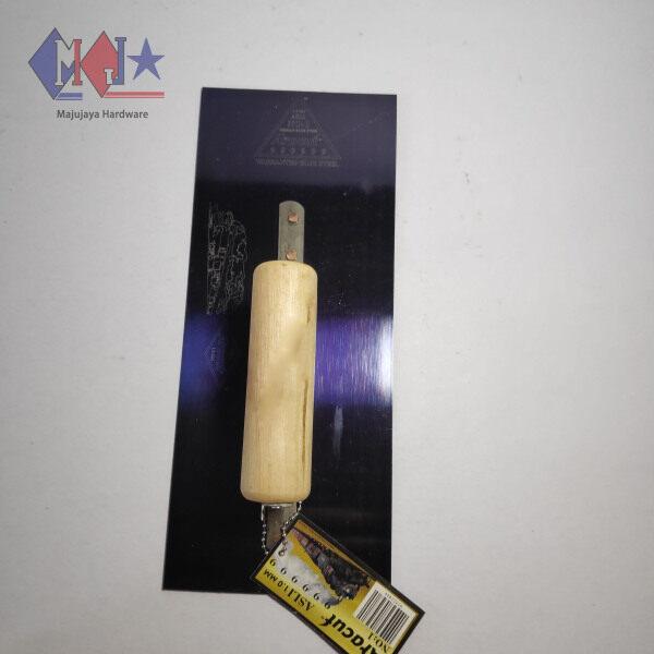 ARACUT BISON S Trowel 4 1/2  Stainless Steel Soft Trowel Skim Coat Cement Plaster Plastering Trowel Dark Blue