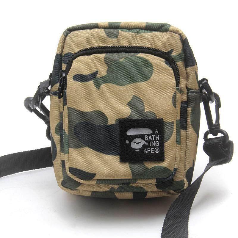 A Bathing Ape Bape Shoulder Bag Camo Crossbody Bag Green Wallet Purse Men Bag