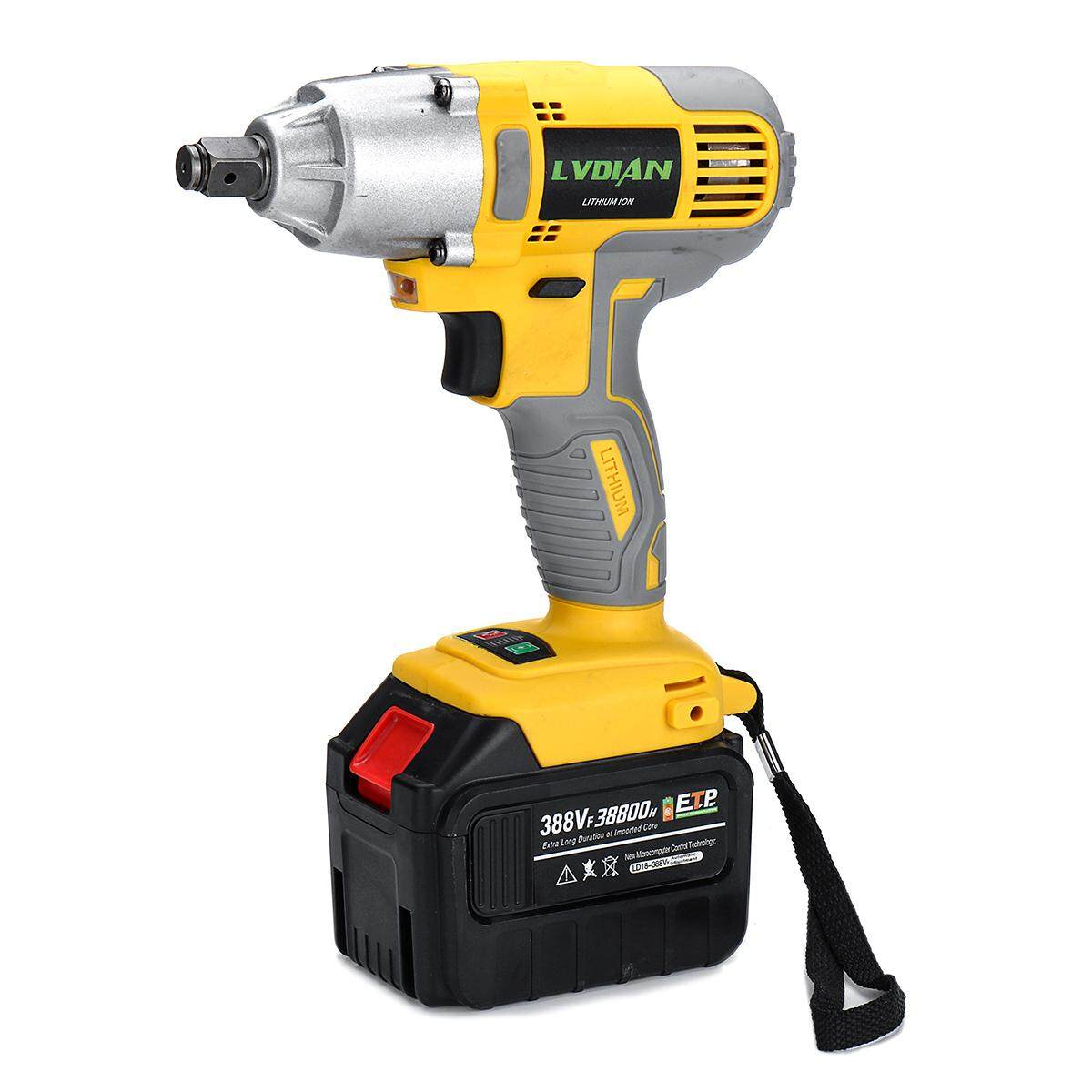 38800mah 388VF Cordless Electric 1/2 Impact Brushless Wrench Driver Hand Drill