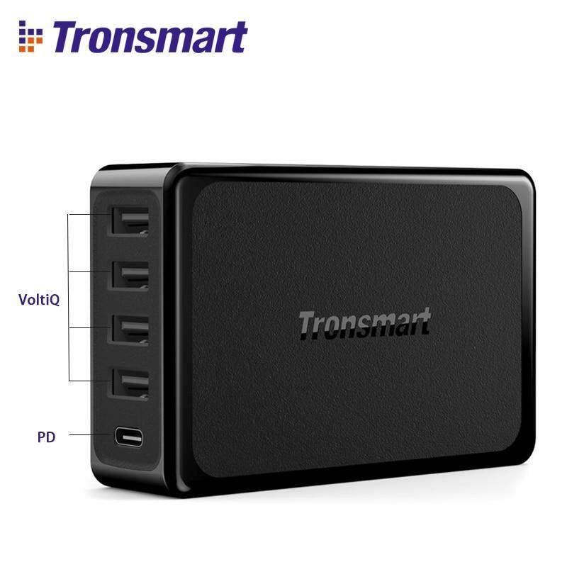 Ban đầu Tronsmart U5P Sạc 5 Cổng USB Sạc Nhanh 60 Wát USB-C Giao Nguồn Máy Tính Để Bàn Sạc dành cho Samsung Galaxy Samsung Galaxy s9, s9 Plus, iPhone x