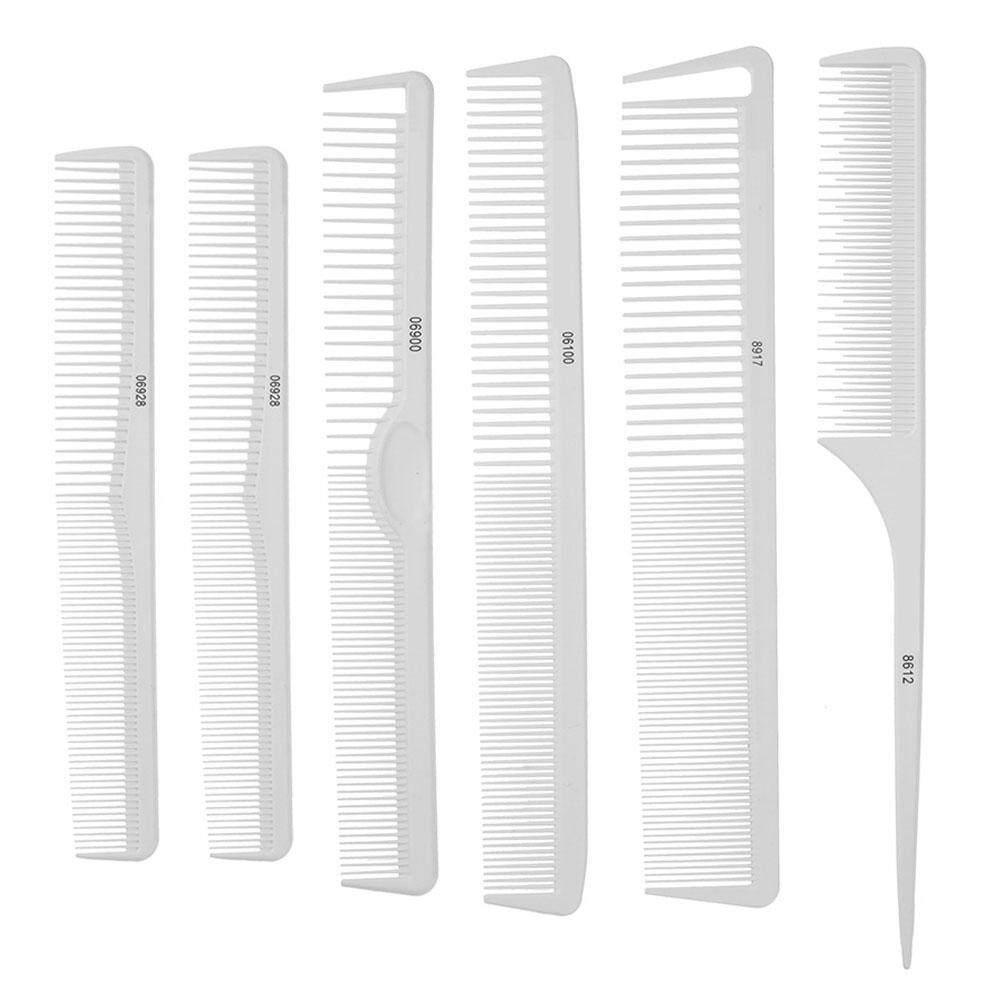 〔alloyseedtech〕6 cái/bộ Chống Tĩnh Điện Làm Tóc Cắt Tóc Salon Tóc Lược Pro Dụng Cụ Tạo Kiểu tóc nhập khẩu