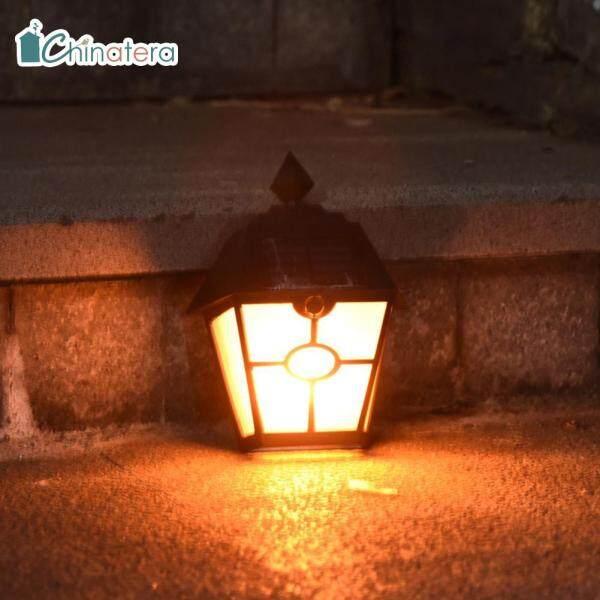 Đèn LED Lục Giác Chinatera, Đèn Năng Lượng Mặt Trời Phong Cách Retro, Năng Động, Gắn Tường Ngoài Trời, IP65