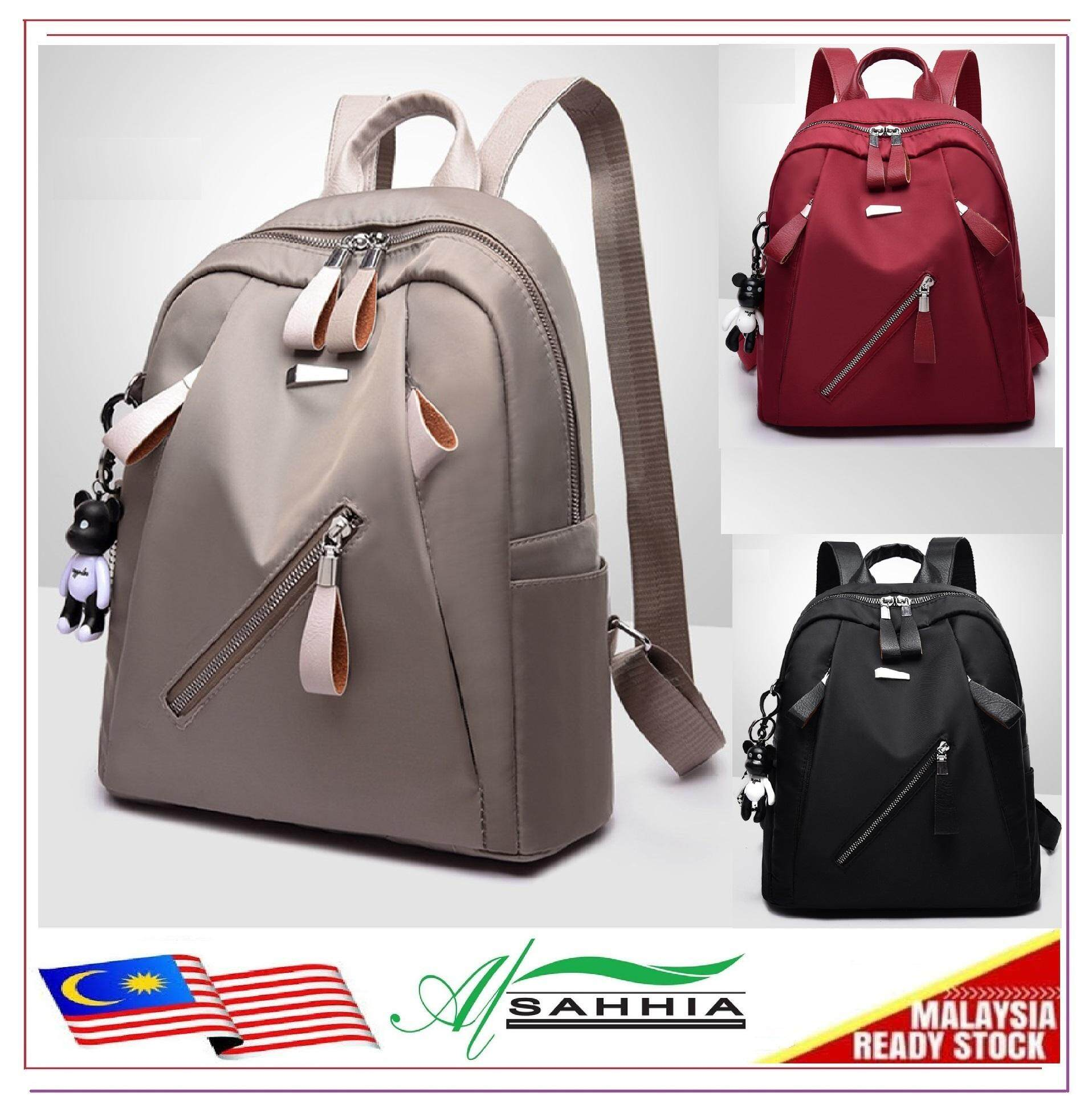 75d28a6f4f9 4G3 Al Sahhia Ready Stock Oxford Slanting Zip Waterproof Teenage Backpack  Travel Casual Bag Oxford Cloth Nylon