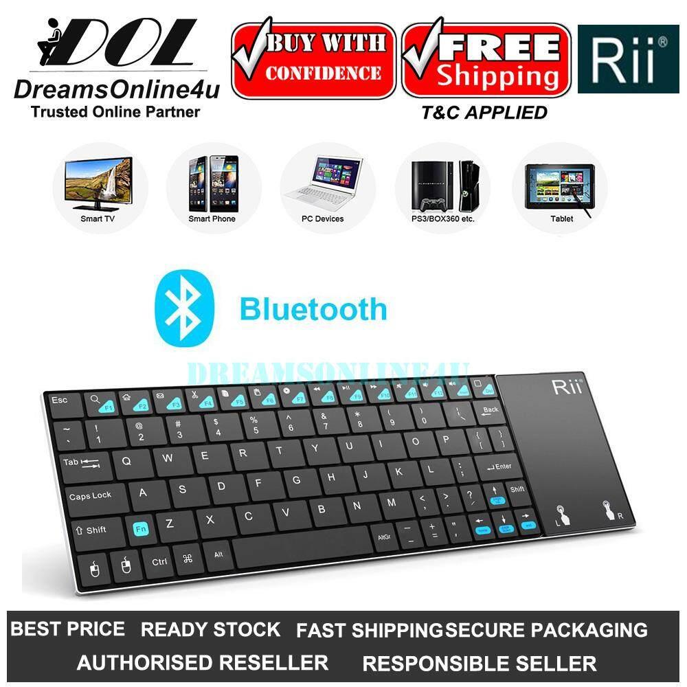 a45c32b83f9 Rii K12 BT Ultra Slim Bluetooh Portable Mini Wireless Keyboard Smart TV  Android Box Netflix Youtube