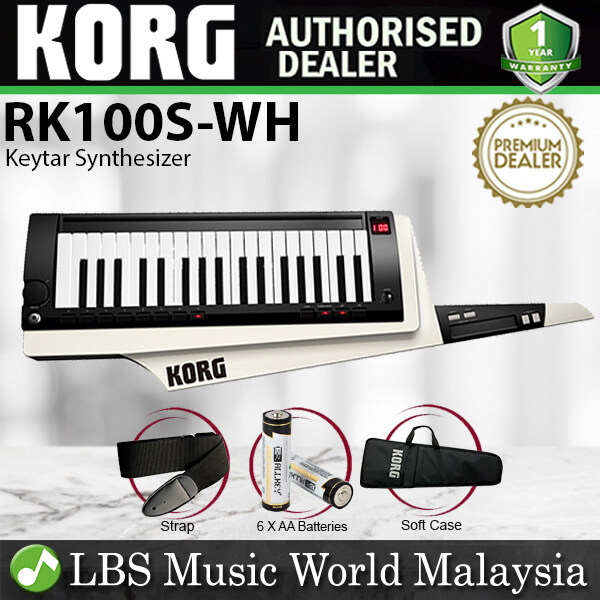 Korg RK-100S 37 Key Built In Analog Modelling Lighweight Synthesizer Keytar White (RK100S RK 100S) Malaysia