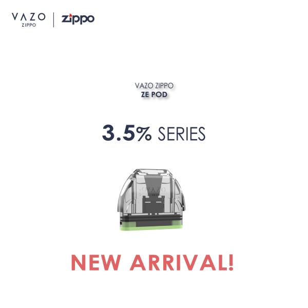 VAZO ZIPPO - ZE POD - 3.5% Series - NEW! Malaysia