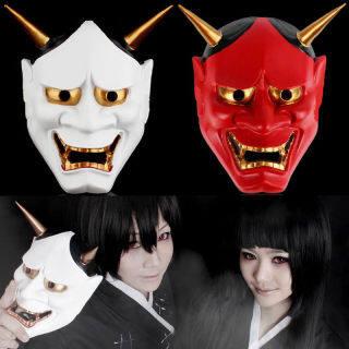 Mặt Nạ Halloween Thời Trang Bán Chạy, Mặt Nạ Lễ Hội Ma Quỷ Phật Giáo Nhật Bản Cổ Điển Trang Phục Phụ Kiện Mặt Nạ Hóa Trang Kinh Dị thumbnail