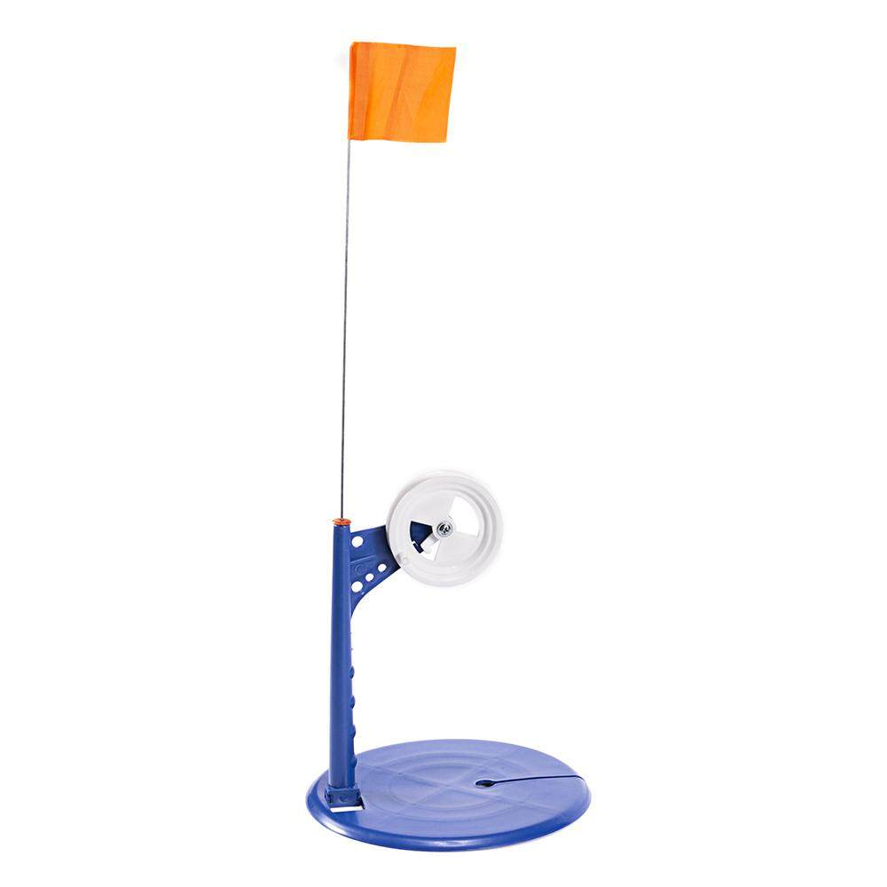 Ice Fishing Tip-Up Metal Pole Orange Flag Tip Up Anti-Corrosion Plastic Tip Up Kit Ice Fishing Accessory By Tomtop.