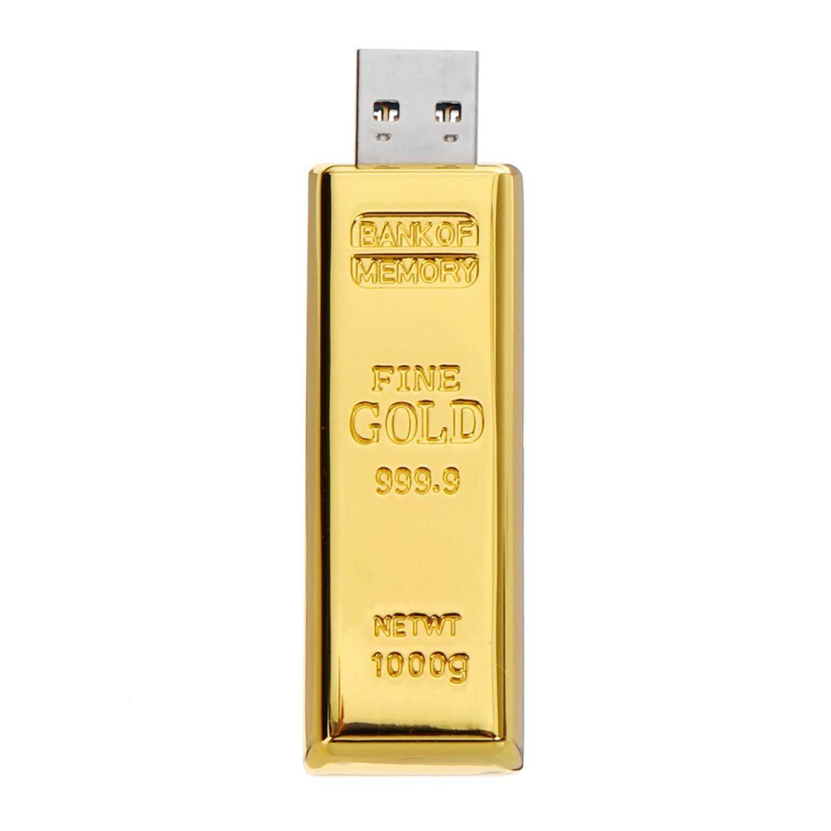 USB 3.0 Golden bullion Shape Flash Drive Memory Stick 128GB 256GB Pen Drive