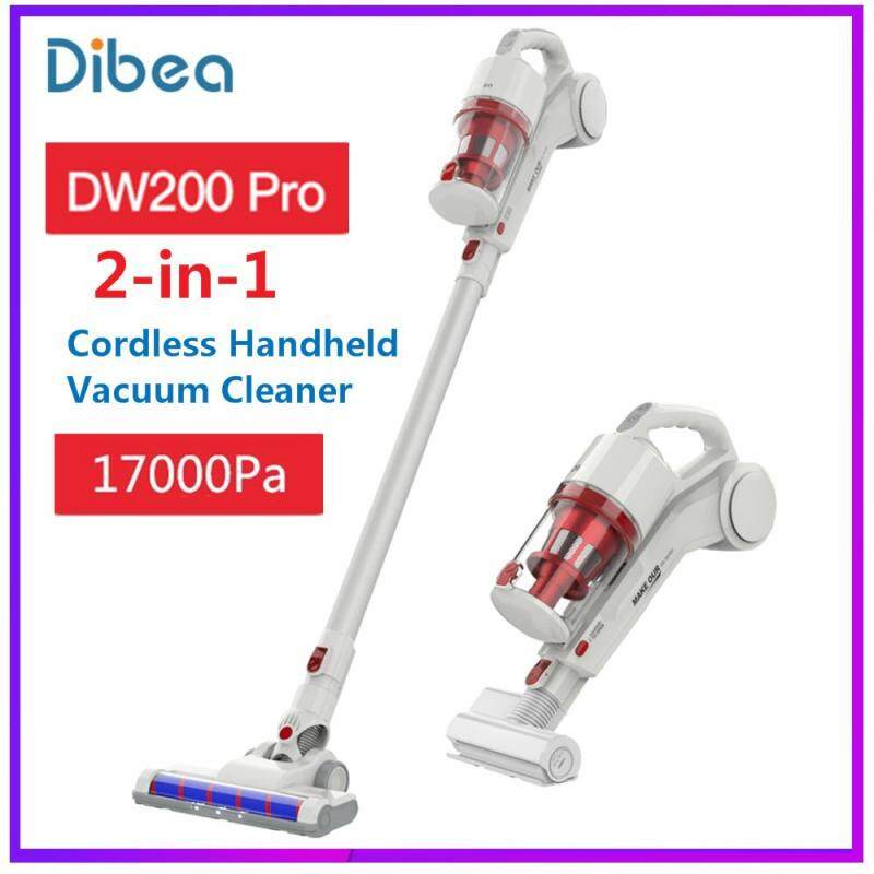 Original Dibea DW200 Pro Cordless 2-in-1 Hand-held Stick Vacuum Cleaner for cleaning on hardwood, carpet, tile floors, car, bed Singapore