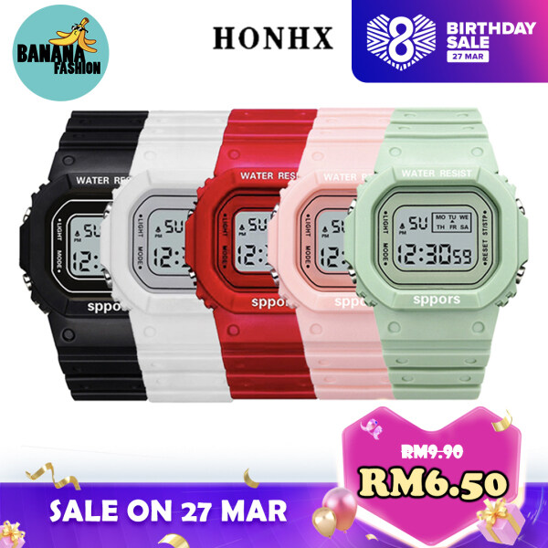 [RAYA SALE] [BDAY SALE] [Original] HONHX Sports Watch Digital LED Multifunction Men Women Kids Watch Jam Tangan Lelaki Wanita Kanak Malaysia