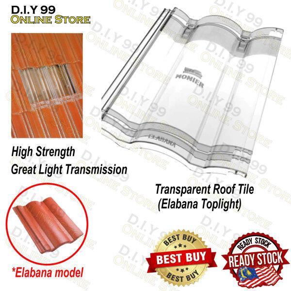 Monier Toplight Elabana Transparent Roof Tile / Roof Tile / Genting Terang / Jubin Bumbung / Bumbung Telus Cahaya