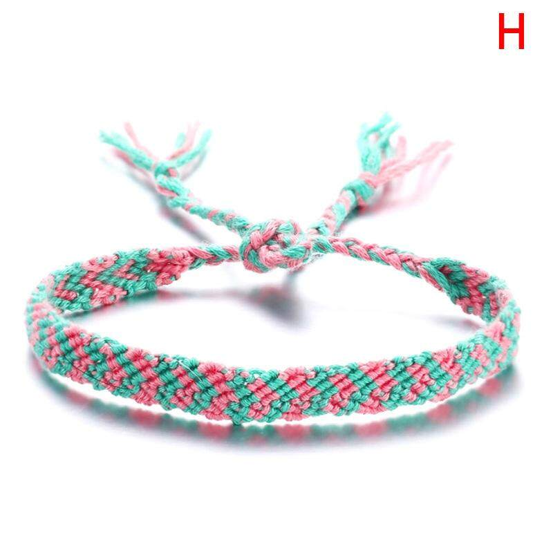 Sissi Boho Vintage Weave Cotton Multi-color Anklet Chain Handmade Women Foot Jewelry