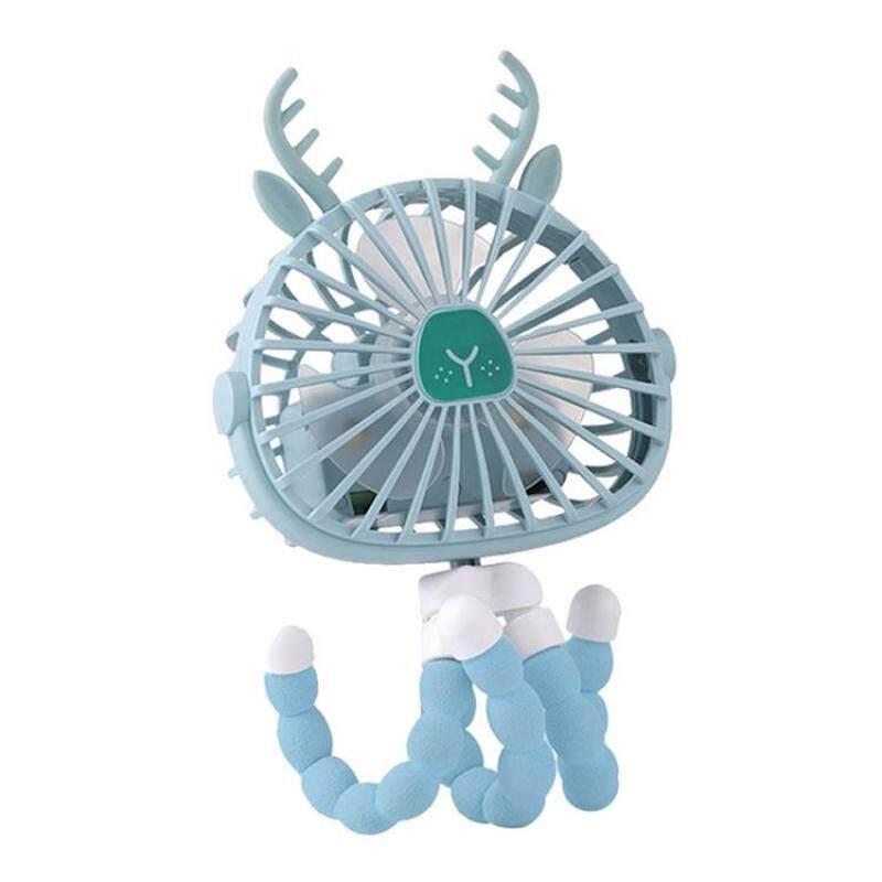 Mini Cầm Tay Xe Đẩy Fan Cá Nhân Xách Tay Bé Fan Với Linh Hoạt Tripod Điều Chỉnh 3 Tốc Độ Ánh Sáng Ban Đêm USB Hoặc Battery Powered Air Cooler