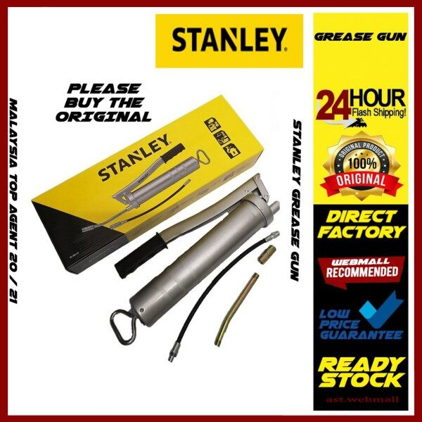 STANLEY GREASE GUN GREASE PUMP USA 95-385-2V SET WITH GREASE HEAD AND 2 HREASE HOSE 100% ORIGINA