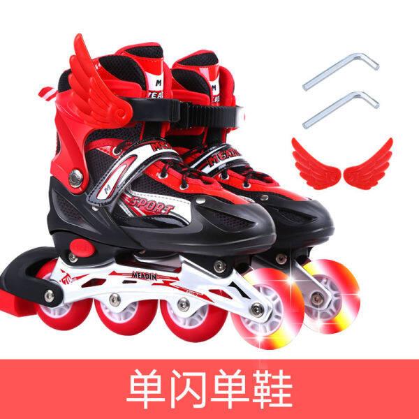 Phân phối Giày Trượt Bộ Đồ Trẻ Em Trẻ Em Giày Trượt Pa-tanh Giày Trượt Băng Cho Nam Và Nữ Tất Cả Trượt Patin Bé Trai Có Thể Điều Chỉnh Kích Cỡ