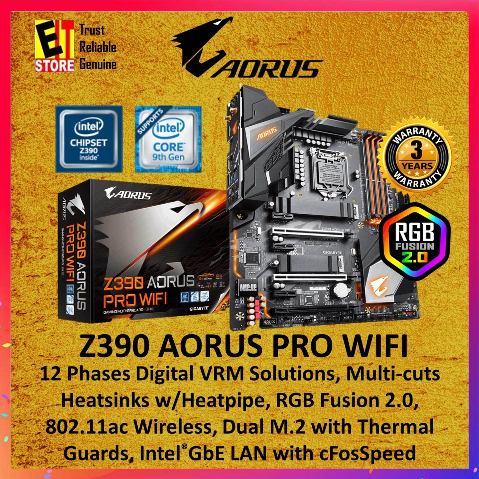 GIGABYTE Z390 AORUS PRO WIFI Ultra Durable Gaming Motherboard (Intel  LGA1151)