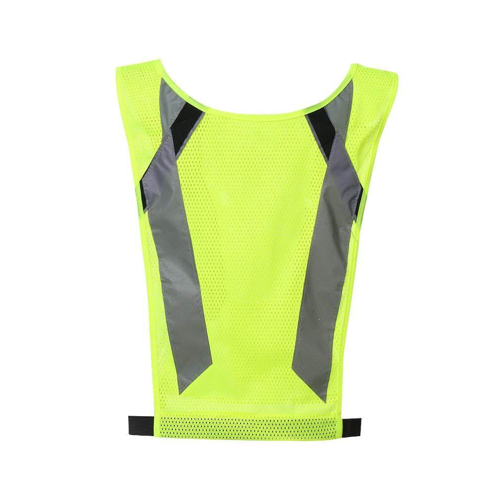 LA-2016 Reflective Safety Vest High Visibility Safety Vest Bright Neon Color Breathable Vest with Reflective Strips for Construction Sanitation Worker Roadside Emergency Average Size