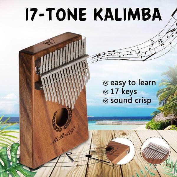 EQ 17-tone Wooden Kalimba Solid Thumb Piano Finger Percussion Music Gifts - Malaysia