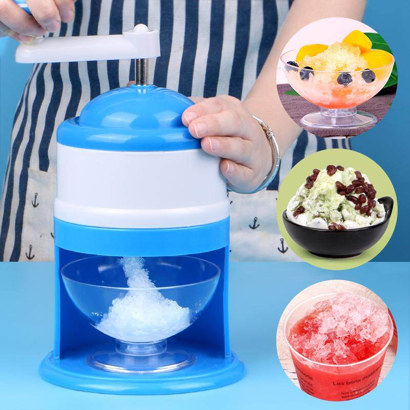 Portable Hand Crank Manual Ice Shaver Maker Machine Tool Summer Ice Crusher By Tancano Direct.