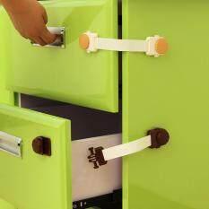 Homenhome 1 chiếc Xắc Trẻ Em An Toàn Khóa Tủ Khóa Tủ Lạnh Ngăn Kéo Khóa 19×4 cm
