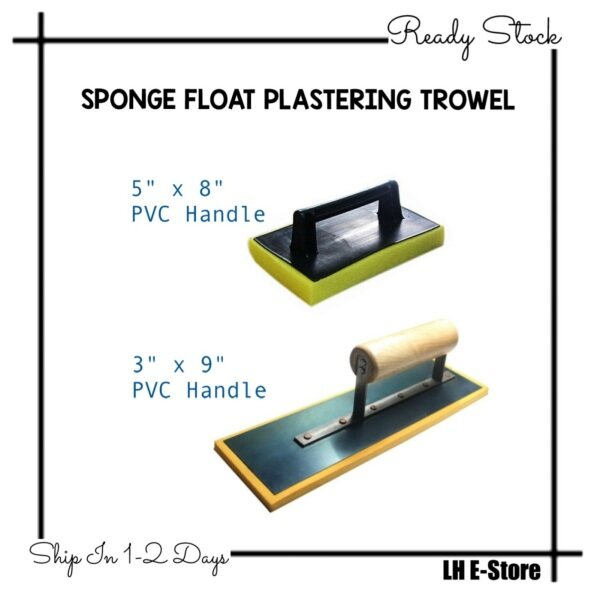 Sponge Float Plastering Cement Trowel With PVC Handle/Wooden Handle 灰抹 Span Tangkai Plastik/Kayu