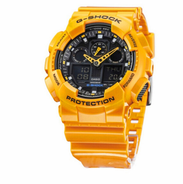 Original Casio G-Shock GA100 Men Sport Watch Dual Time Display 200M Water Resistant Shockproof and Waterproof World Time LED Auto Light Sports Wrist Watches with 2 Years Warranty GA-100A-9A (Ready Stock) Malaysia