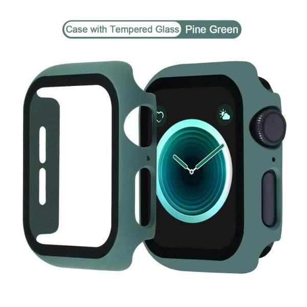 Vỏ Đồng Hồ Cho Apple Watch Ốp Lưng PC 6 SE 5 4 40MM 44MM Với Màng Bảo Vệ Kính Dành Cho Dòng I Watch Phụ Kiện 3 2 1 38MM 42MM