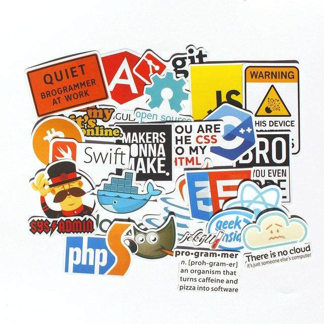 30pcs Pvc Waterproof Internet Theme Sticker For Geek Programmer Cloud Data Represent Yourself Java C++ Phpstickers By Hyde Store.